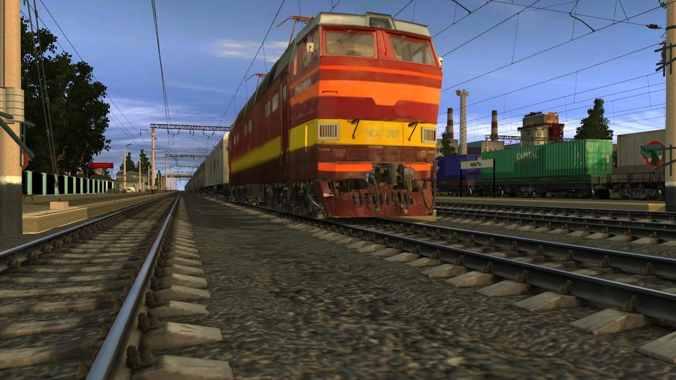 ЧС4т-351 на станции мосты