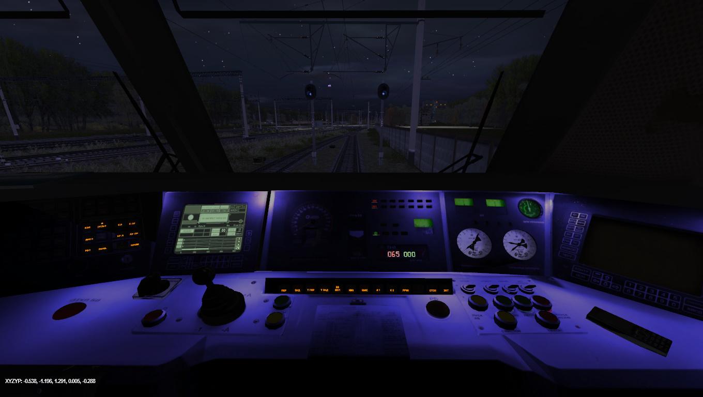ЧС2к ночная кабина на карте Грегово