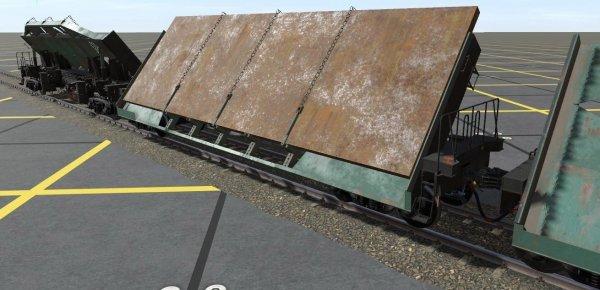 Платформа 4-осная для листовой стали, модель 13-4107
