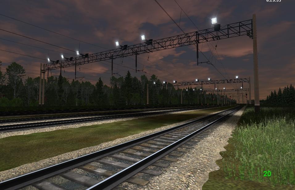 Вечерний вид станции