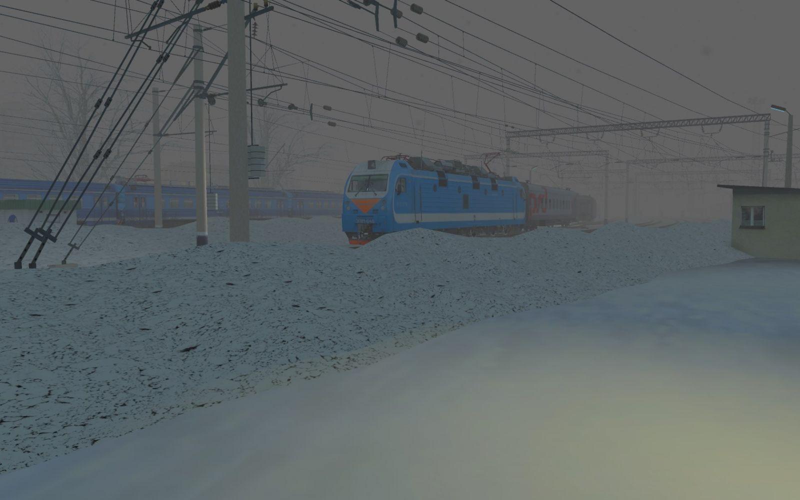 """""""Сквозь стену вьюги"""" ЭП1М-645 в Trainz A New Era"""