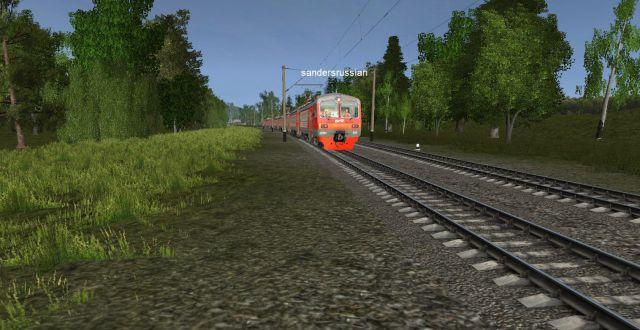 Электропоезд под управлением Машиниста Sandersrussian следует по перегону Подклетное-Вельск