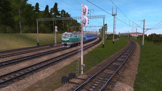 ЧС4-КВР с поездом №151 соединением Колосово - Вереста