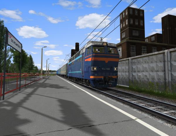 ЧС4т-550 проследует о.п. Ильичевск