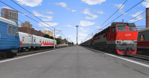 ЧС4т-667 прибывает на ст. Коромыслово